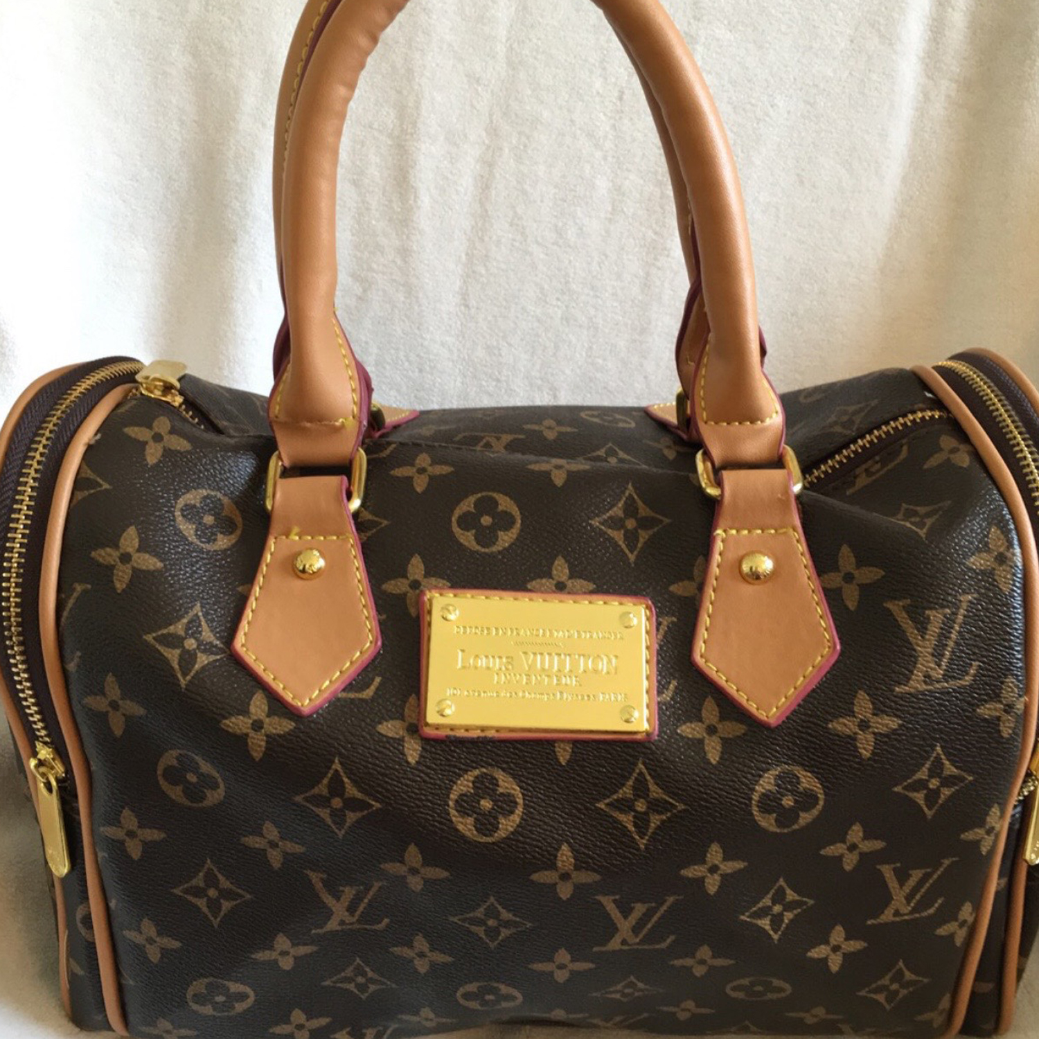 Used Louis Vuitton Handbags Authentic Hardware Replica Sloppy Craftsmanship On Plaque